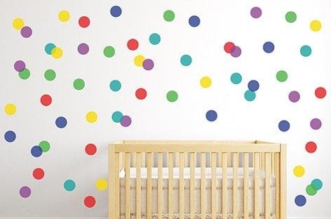 Polka Dot Wall Decal Sticker