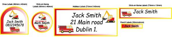 Name Labels Trucks
