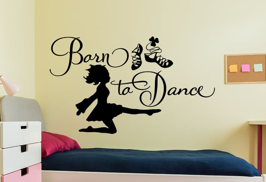Beau Irish Dancing Born To Dance Wall Decal
