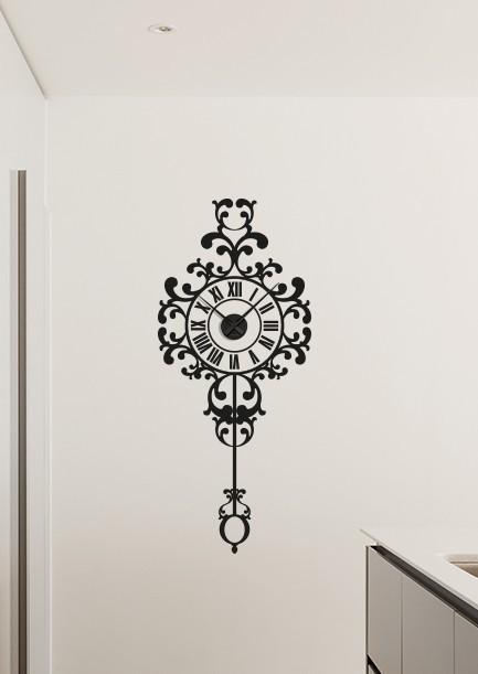 Wall decal sticker clock | baroque