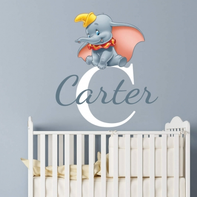 Personalised Dumbo name wall decal