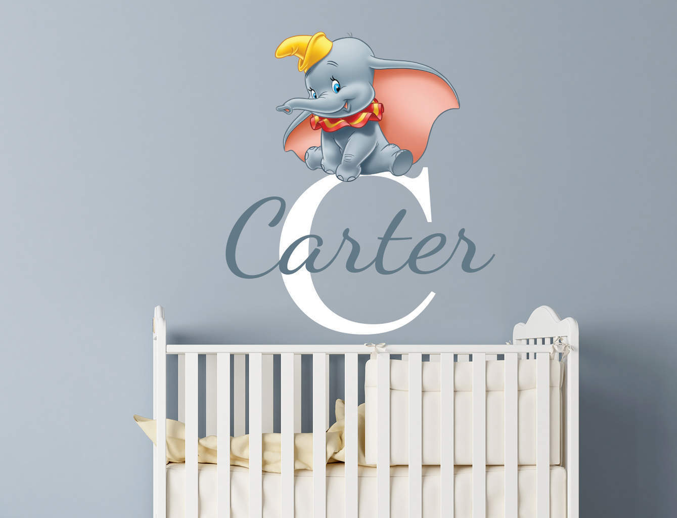 Dance Wall Murals Personalised Dumbo Name Wall Decal Sticker