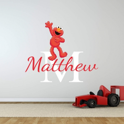 Personalised Elmo name wall decal
