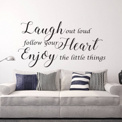 Laugh out loud wall decal sticker