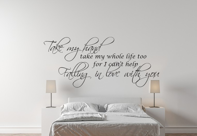 Falling in love with you wall decal sticker