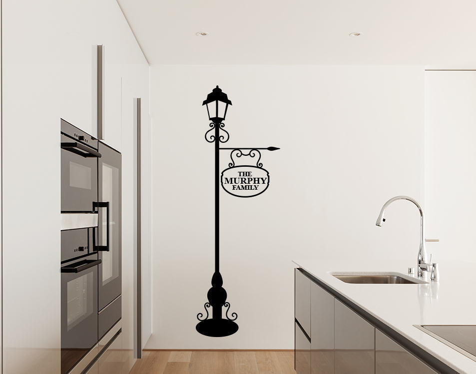 Personalised Lamp post wall decal sticker