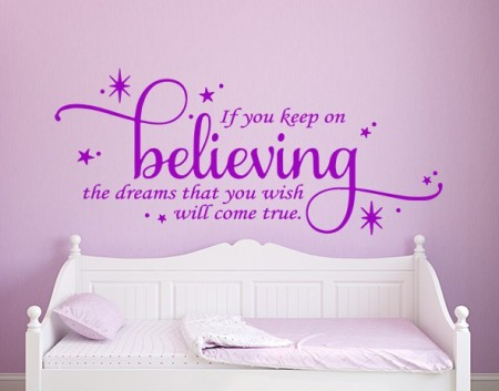 Keep on believing wall decal sticker