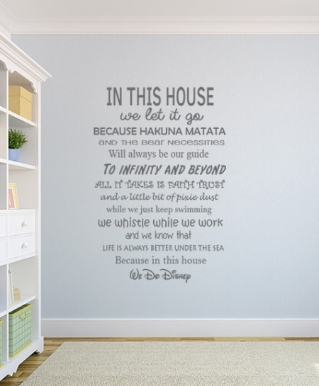 House Rules We Do Disney Wall Decal Sticker