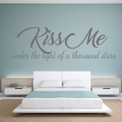 Kiss me wall decal sticker