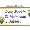 Minions School Name Labels Pack