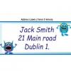 Monster School Name Labels Pack