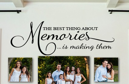 The Best Thing About Memories Wall Decal Sticker