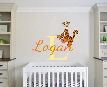 Personalised name tigger wall decal