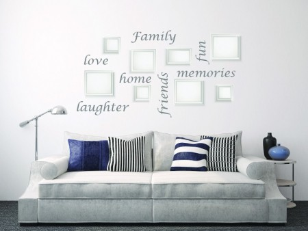 Picture Collage Words Wall Decal