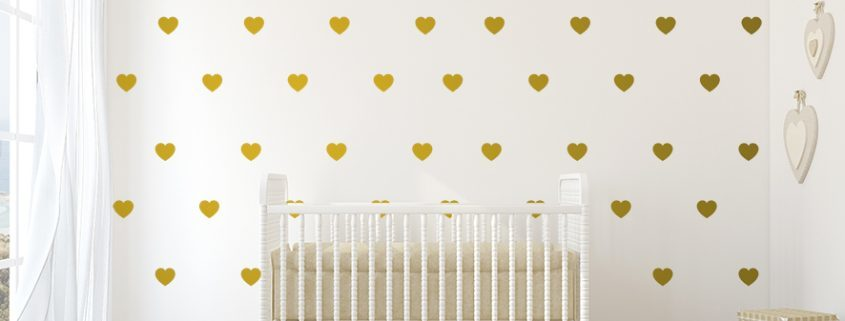 Heart Wall Decal Set, decal pattern sets, Wall Decal Sets