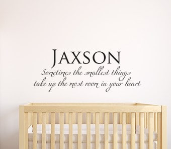 Personalised Smallest Things Wall Decal