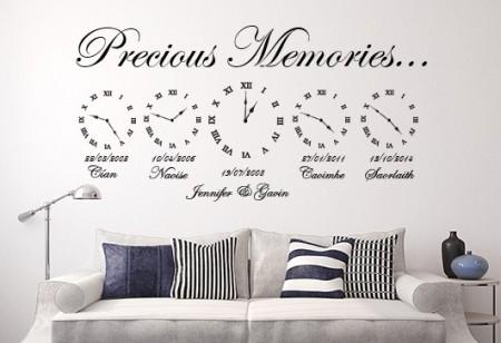 Precious Memories Clock Wall Decal
