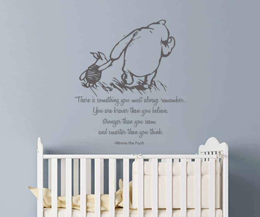 Winnie the Pooh and Piglet Always Remember Wall Decal Sticker