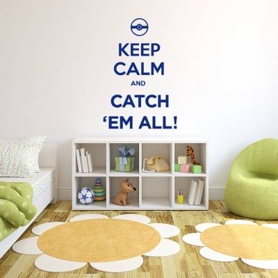 Keep Calm Pokemon Wall Decal Sticker