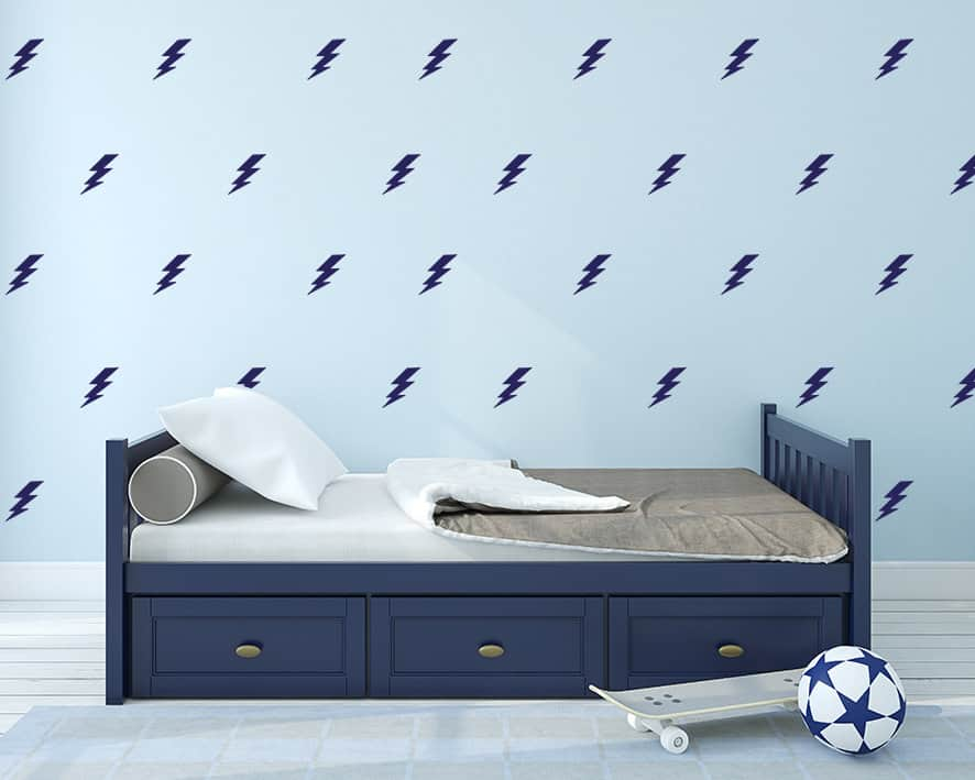 Lightening Bolts Wall Decal Set
