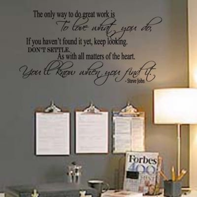 Love What You Do Wall Decal Sticker