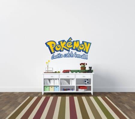 Pokemon gotta catch 'em all Wall Decal Sticker