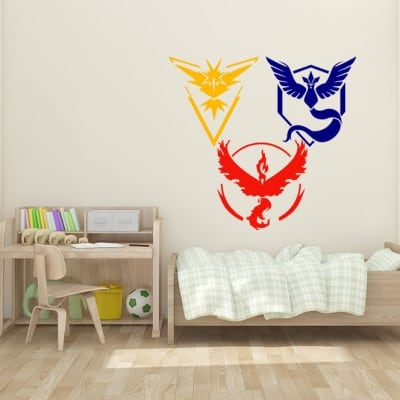 Pokemon Teams Wall Decal Sticker