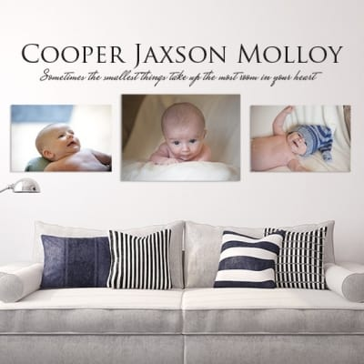 Personalised Name Smallest Things Wall Decal