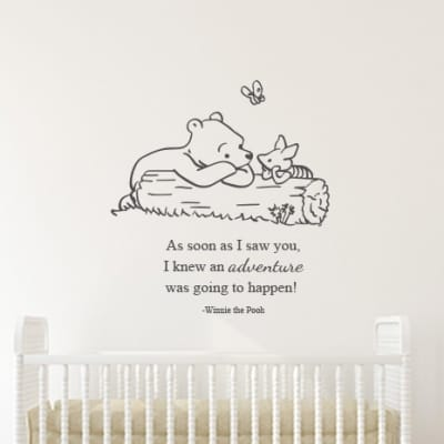 Winnie the Pooh and Piglet Adventure Wall Decal Sticker