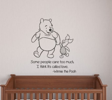 Winnie the Pooh and Piglet Love Wall Decal Sticker