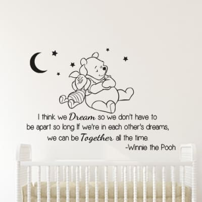 Winnie the Pooh and Piglet Dream Wall Decal Sticker