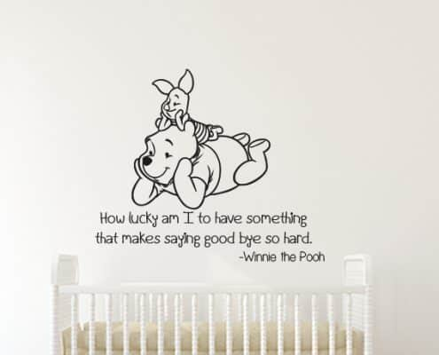 Winnie the Pooh and Piglet Lucky Wall Decal Sticker