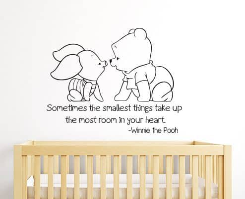 Winnie the Pooh and Piglet Smallest Things Wall Decal Sticker