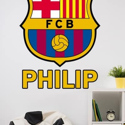 Barcelona crest personalised wall decal sticker