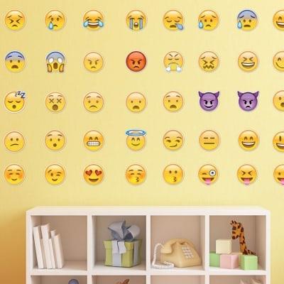 Emoji Pack Wall Decal Sticker Set