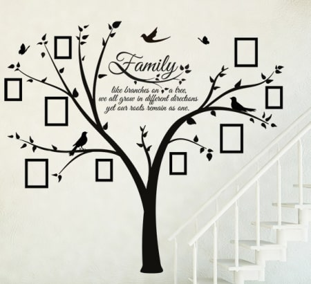 Family Photo and Quote Tree Wall Decal Sticker