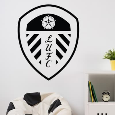 Leeds United Crest Wall Decal Sticker