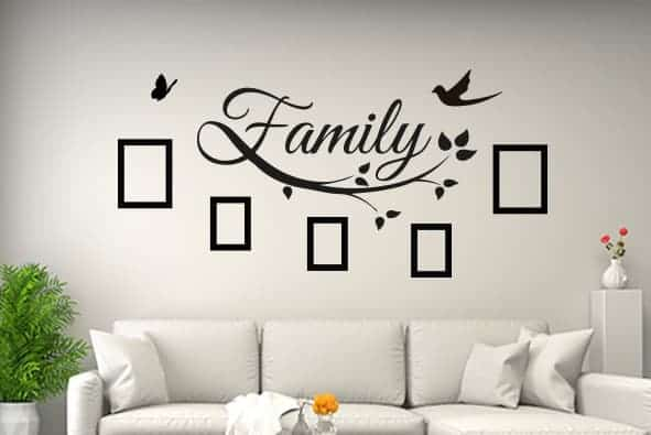 Family Photo Quote Wall Decal Sticker