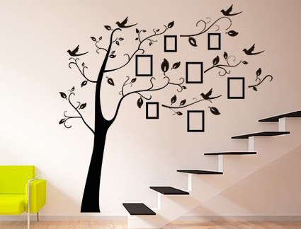 Family Photo Tree Wall Decal Sticker