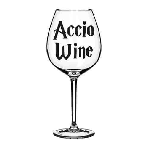 Accio glass decal sticker
