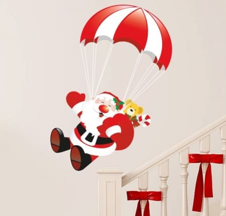 Santa Parachute Wall Sticker
