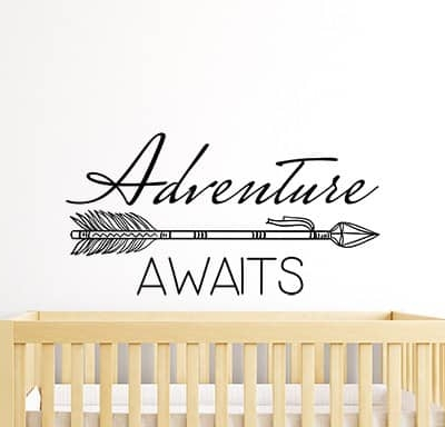 Adventure Awaits Arrow Wall Sticker