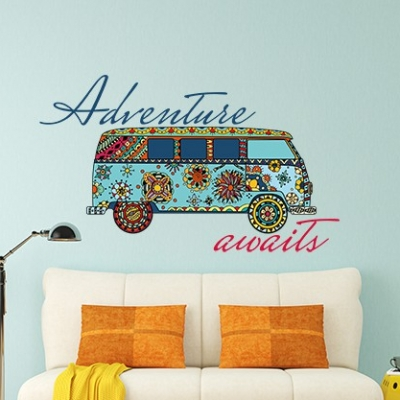 Adventure Awaits Campervan Wall Sticker