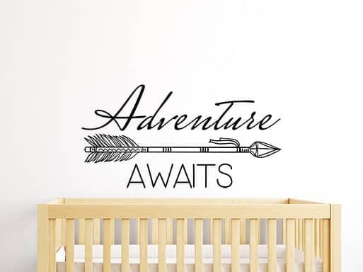Adventure Awaits Arrow Wall Sticker