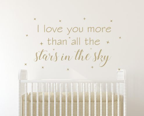 I Love You More Wall Sticker