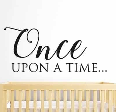 Once Upon A Time Wall Sticker