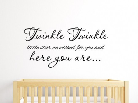 Twinkle Twinkle We Wished For You Wall Sticker