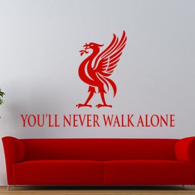 Liverpool LFC You'll Never Walk Alone Wall Decal Sticker