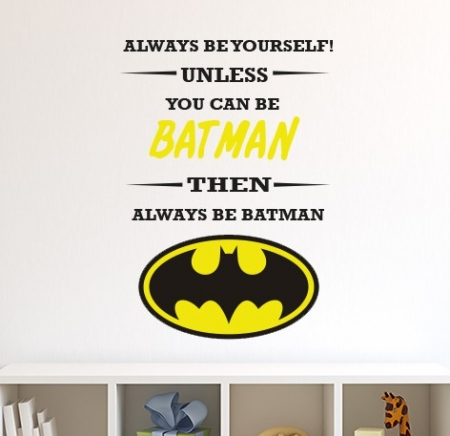 Always be Batman Wall Sticker