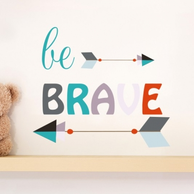Be Brave Arrow Wall Sticker